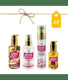 Bio Macerované oleje - Set pro kompletní Růžový rituál v péči o pleť - PV0008