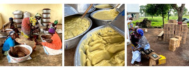 Několika hodinové míchání, tuhnutí másla a příprava na distribuci