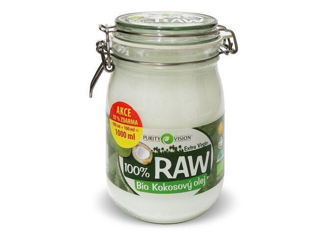 RAW Bio Kokosový olej - Raw Bio Kokosový olej 900+100 ml - 290057