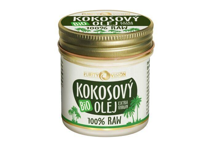 Bio kokosové oleje - Raw Bio Kokosový olej 120 ml - kosmetika - 290154