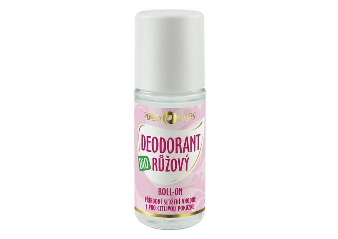 Deodoranty - Bio Růžový Deodorant roll-on 50 ml - 290235