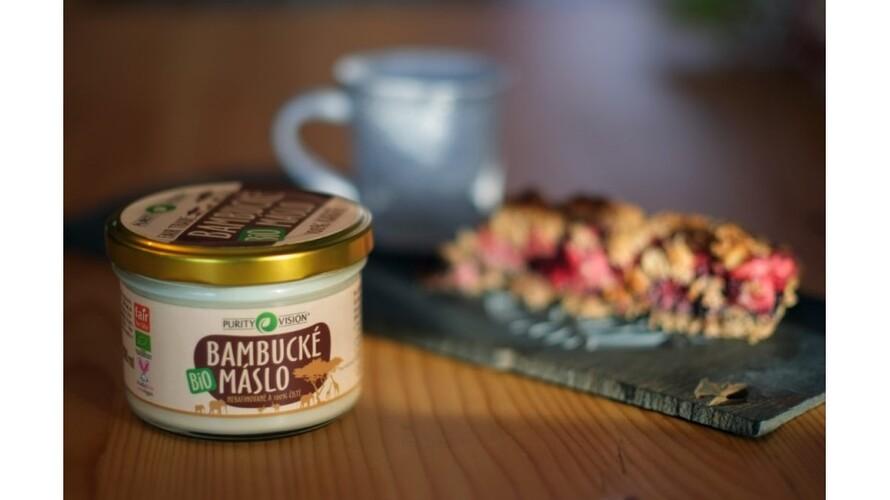 Celozrný koláč a Bio Bambucké máslo PURITY VISION